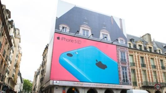 Publicité Apple Place des Vosges